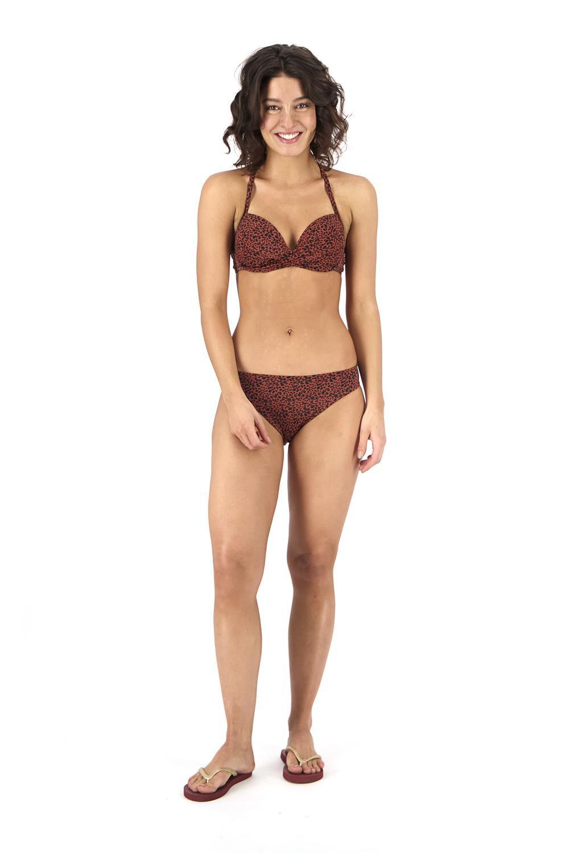 HEMA Dames Bikinislip Donkerrood (donkerrood)