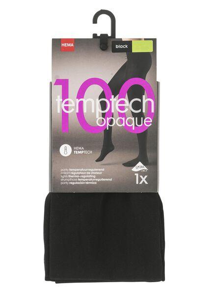panty 100 denier zwart zwart - 1000001120 - HEMA
