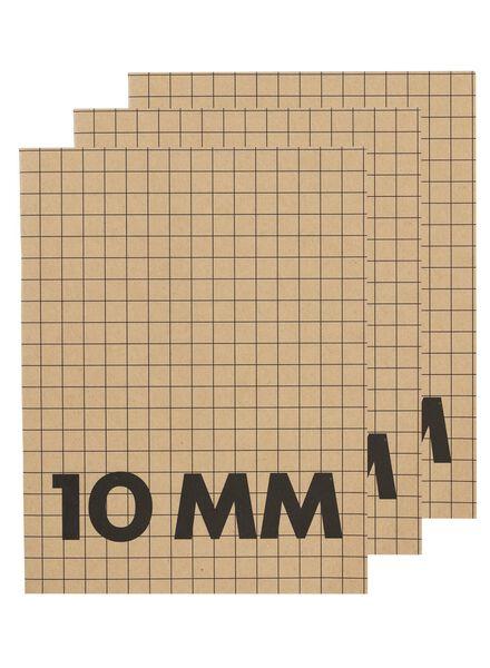 3-pak schriften A5 geruit 10 mm - 14170059 - HEMA