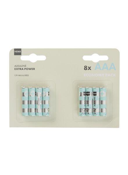 8-pak AAA batterijen - 41210506 - HEMA