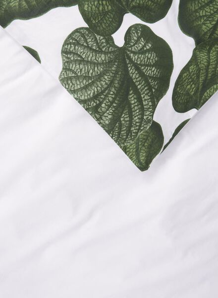 dekbedovertrek - 140 x 200 - zacht katoen -  wit blad - 5710098 - HEMA