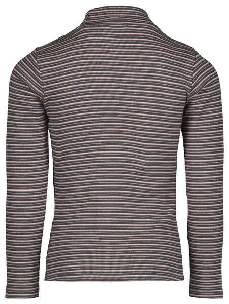 kinder t-shirt rib streep paars 134/140 - 30853263 - HEMA
