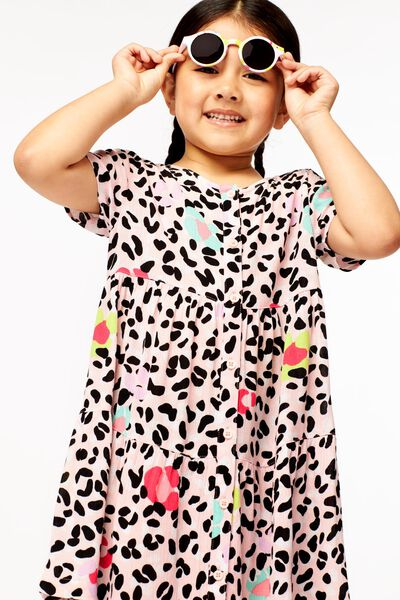 kinderjurk animal roze 122/128 - 30891772 - HEMA