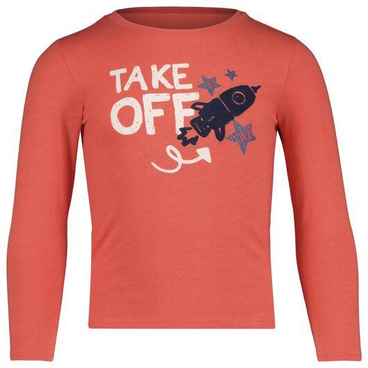 kinder t-shirt koraal koraal - 1000017733 - HEMA