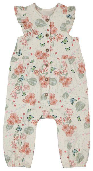 baby jumpsuit bloemen gebroken wit gebroken wit - 1000023551 - HEMA