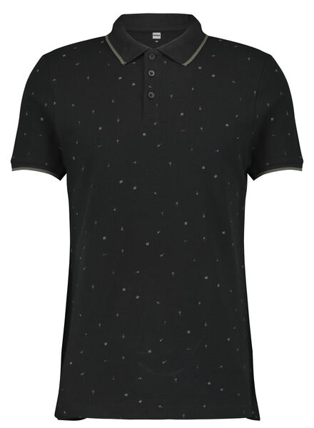 herenpolo zwart zwart - 1000014905 - HEMA