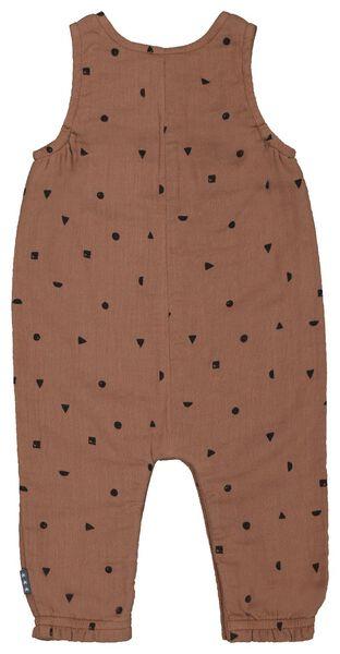 newborn jumpsuit mousseline bruin 56 - 33414612 - HEMA