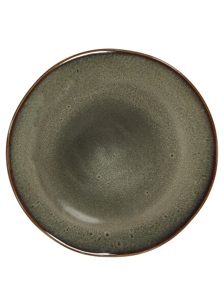 ontbijtbord - 20 cm - Porto - reactief glazuur - taupe - 9602050 - HEMA
