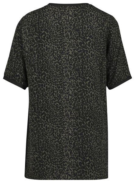 dames t-shirt olijf L - 36229928 - HEMA