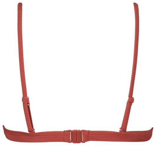dames bikinitop zonder beugel - rib rood L - 22340204 - HEMA