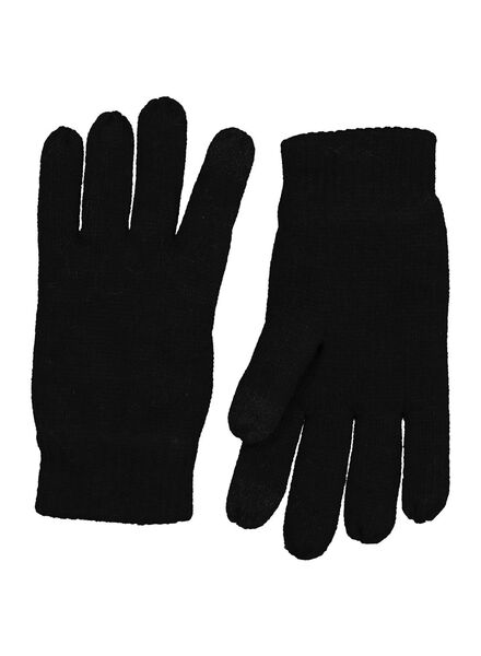 kinderhandschoenen touchscreen zwart 122/128 - 16703102 - HEMA