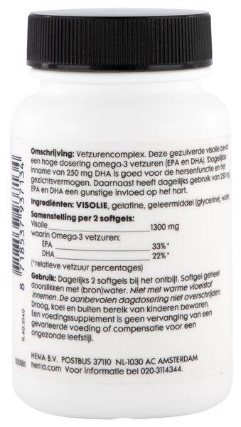 gezuiverde visolie hoog gedoseerd 55% omega-3 - 60 stuks - 11402140 - HEMA