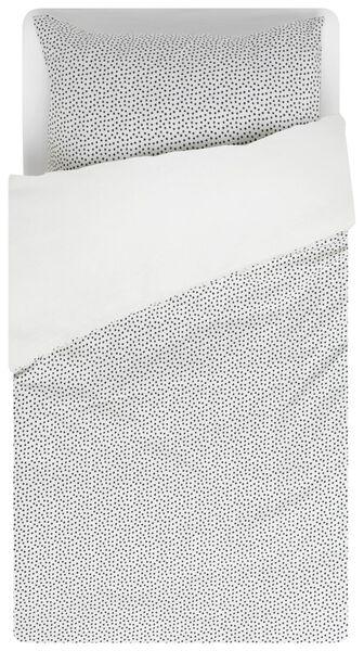 peuterdekbedovertrek - zacht katoen - 120 x 150 cm - wit stip - 5750097 - HEMA