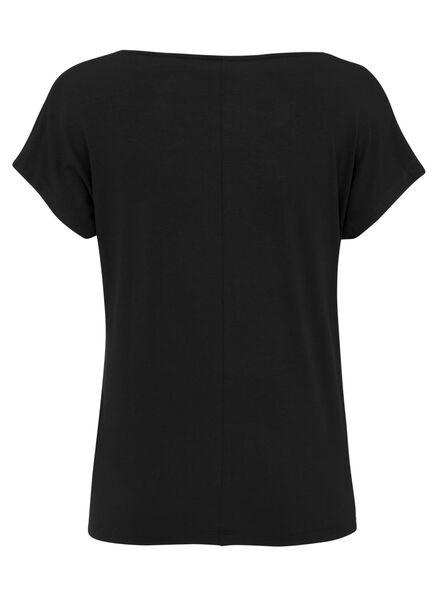 dames t-shirt zwart zwart - 1000008273 - HEMA