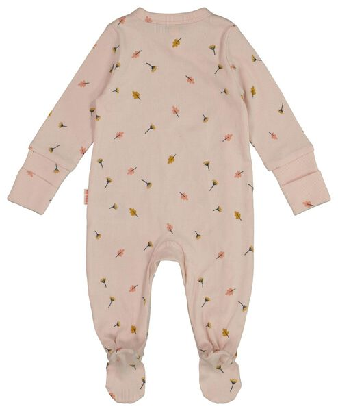 newborn jumpsuit met bamboe roze 62 - 33428334 - HEMA