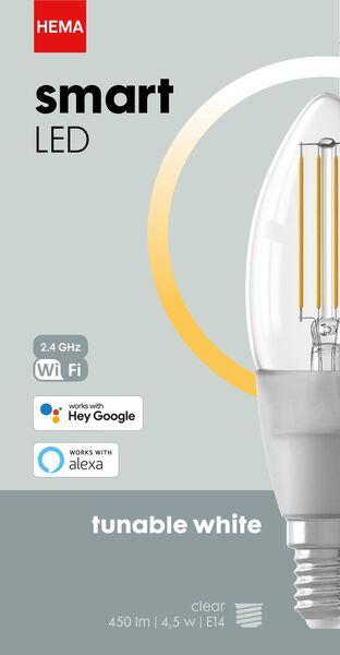 smart LED lamp kaars E14 - 4.5W - 450 lm - helder - 20000026 - HEMA