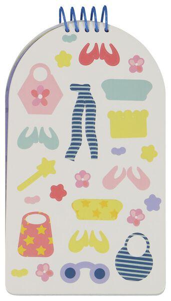 kleurboek met stickers - kleding ontwerpen - 15950054 - HEMA