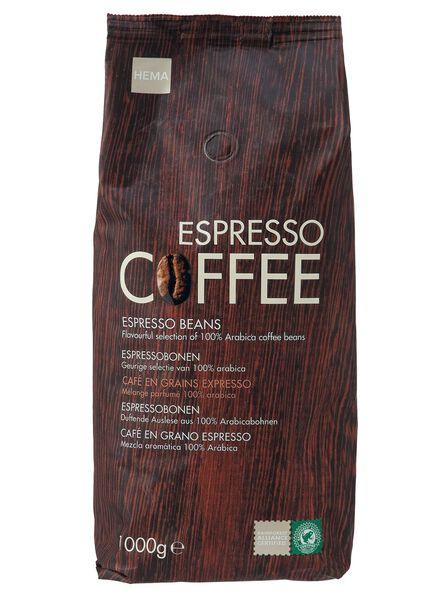 koffiebonen espresso - 1 kg - 17100003 - HEMA