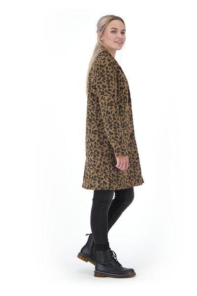 damesjas luipaardvlekken zwart zwart - 1000020642 - HEMA