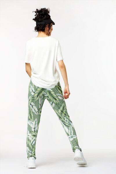 damesbroek bladeren groen groen - 1000023904 - HEMA