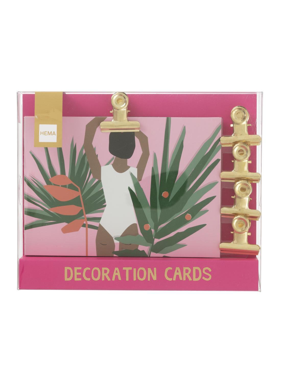 HEMA 10-pak Decoratiekaarten Met Magneetclips