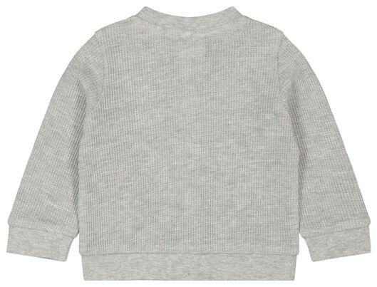 newborn vest gebreid wafel biologisch katoen grijsmelange - 1000022129 - HEMA