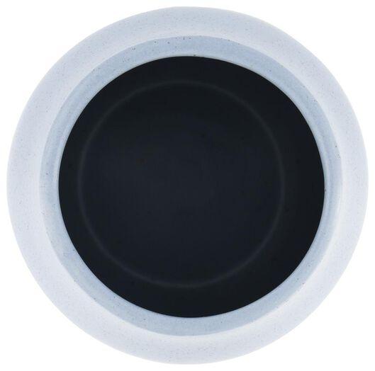 vaas - 27 cm x Ø 15 cm - lichtblauw keramiek - 13392123 - HEMA