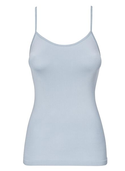 dameshemd naadloos micro lichtblauw lichtblauw - 1000012315 - HEMA