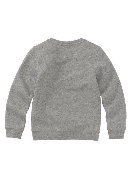 kinder sweater grijsmelange grijsmelange - 1000003798 - HEMA