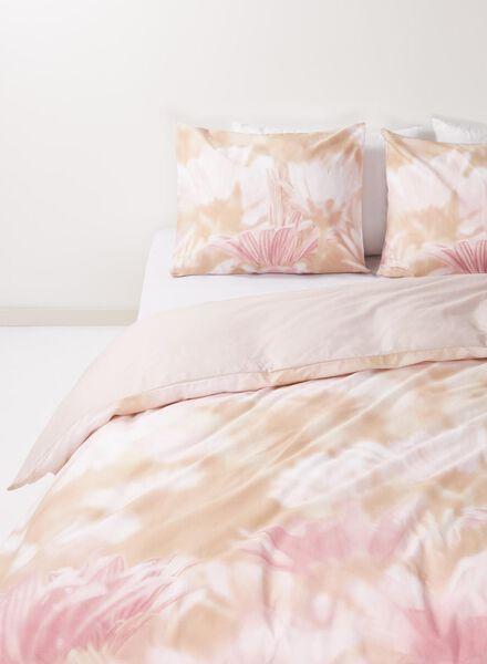 dekbedovertrek - zacht katoen - 240 x 220 cm - roze bloemen - 5720064 - HEMA