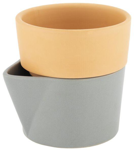 bloempot met waterreservoir Ø11 cm terracotta - 41810062 - HEMA