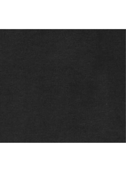 kinder t-shirt - biologisch katoen zwart zwart - 1000003416 - HEMA