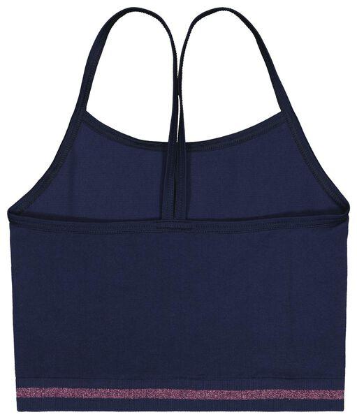 kinder soft tops rib naadloos - 2 stuks donkerblauw donkerblauw - 1000023463 - HEMA