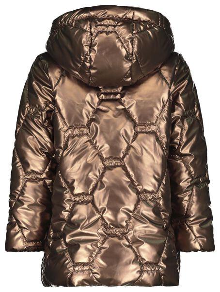 kinderjas gewatteerd metallic bruin 110/116 - 30889773 - HEMA