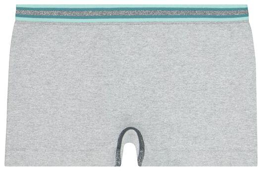 2-pak kinderboxers naadloos glitter grijsmelange - 1000021888 - HEMA