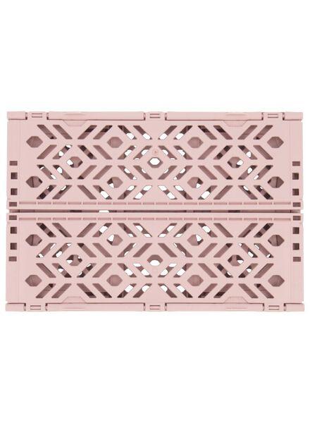 klapkrat gerecycled - 24 x 16 x 9.5 cm - roze roze 24 x 16 x 9,5 - 39892903 - HEMA