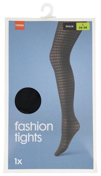fashionpanty pied-de-poule 70 denier zwart zwart - 1000021537 - HEMA