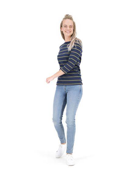 dames top blauw S - 36326415 - HEMA