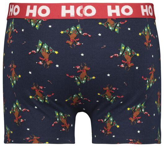 herenboxer kerst rendieren blauw - 1000021519 - HEMA