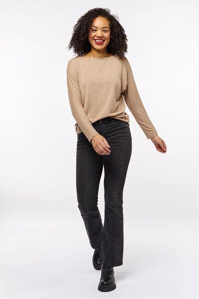 dames t-shirt boothals roze L - 36269083 - HEMA