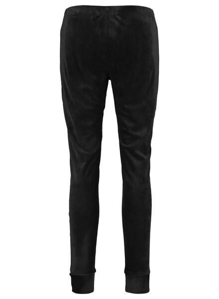 dameslegging velours zwart L - 23421163 - HEMA