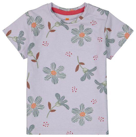 baby t-shirt bloemen lila 86 - 33017945 - HEMA