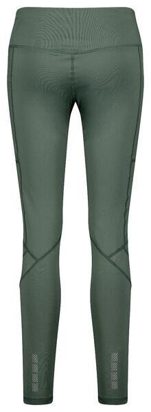 dames hardlooplegging mesh groen S - 36090061 - HEMA