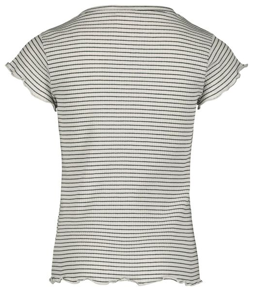kinder t-shirt rib zwart/wit zwart/wit - 1000018383 - HEMA