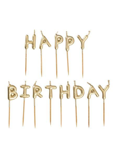 taartkaarsjes happy birthday - 14209928 - HEMA