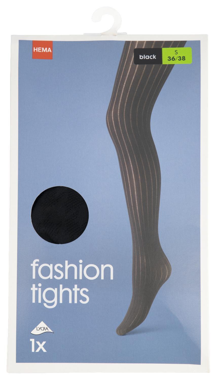 HEMA Fashionpanty Streep 50 Denier Zwart (zwart)