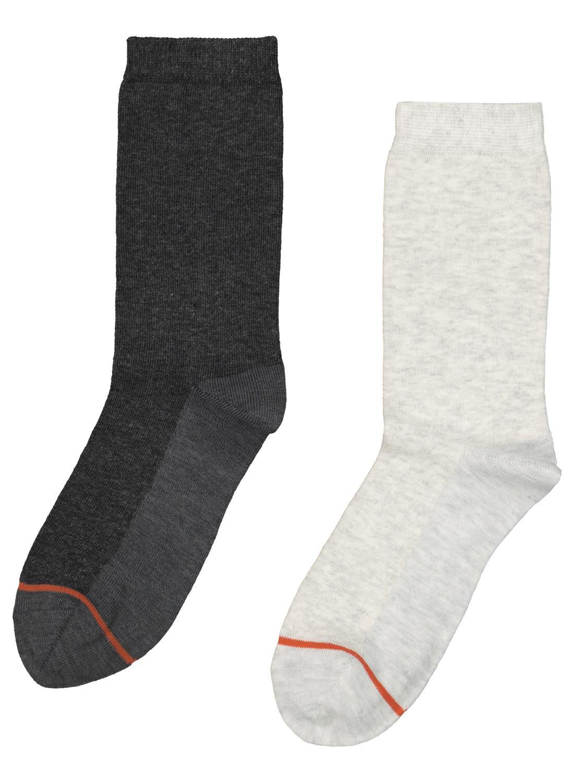 HEMA 2-pak Damessokken Warm Feet Grijsmelange (grijsmelange)