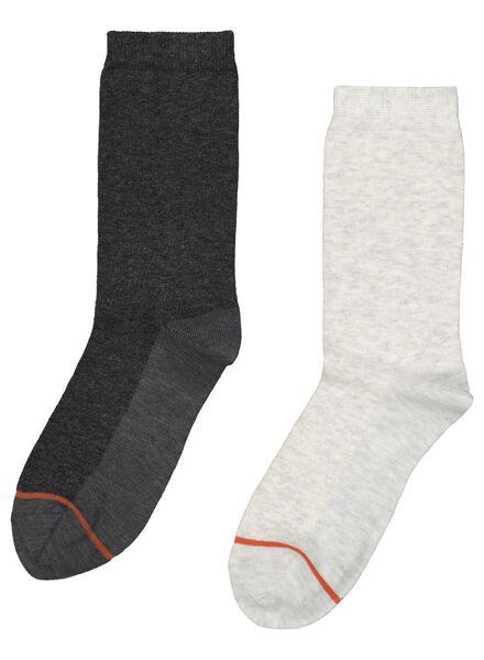 2-pak damessokken warm feet grijsmelange 39/42 - 4230717 - HEMA