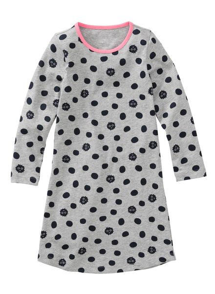 kindernachthemd grijsmelange grijsmelange - 1000002796 - HEMA