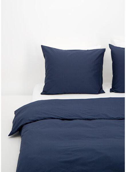 dekbedovertrek - zacht katoen - uni donkerblauw donkerblauw - 1000016594 - HEMA